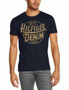 Hilfiger Denim Men's Federer Crew Neck Short Sleeve T-Shirt: Amazon.co.uk: Clothing