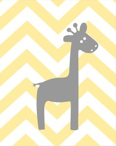 Gray and Yellow Zig Zag Nursery Prints You Are My by karimachal