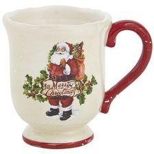 Vintage-Style Santa Mug