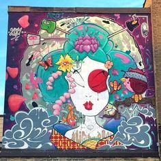street art Ani33 aka Brad Biederman in London