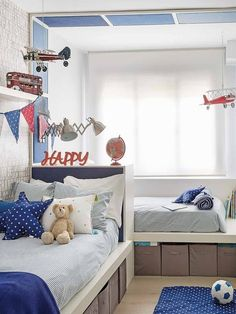 Luxury Bedding Sets On Sale Luxury Bedroom Furniture, Childrens Bedroom Furniture, Boys Bedroom Decor, Home Bedroom, Bedroom Wall, Girls Bedroom, Triplets Bedroom, Bed Furniture, Shared Boys Rooms