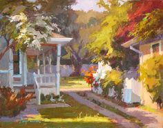 Yard in Back - by Camille Przewodek. Extraordinary light on ordinary scenes. Her DVD tutorials are very good.