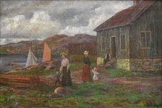 Otto Hennig (1871-1920): Sommerdag ved kysten, 1909