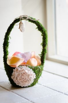 Flower Girl Basket   @ Blush Events    ©Guillermo Raya Photography and Ross Knight Photography    theblushevent.com