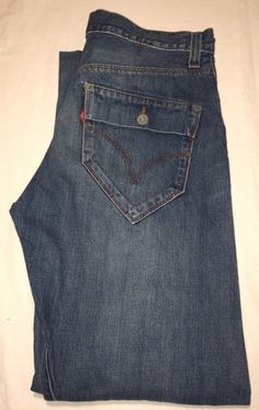 LEVIS ENGINEERED TWISTED 10131 BLUE FADED JEANS W30 L28 BUTTON FLY FLAP POCKETS