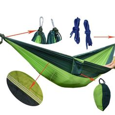 Sturdy and Light 2 person Hammock for Camping / Backyard Relaxation