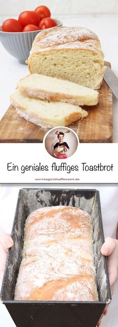 Toastbrot kann man ganz einfach selbst backen, wie ich neulich festgestellt habe… You can easily bake toast yourself, as I noticed recently. All you need is a few ingredients to get a fluffy and light toast. Sandwich Recipes, Bread Recipes, Tartiflette Recipe, Mexican Breakfast Recipes, French Toast Bake, Polish Recipes, French Pastries, Few Ingredients, Recipes