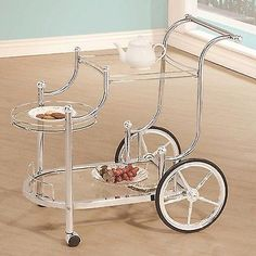 Bar Carts and Serving Carts 183320: Coaster Home Furnishings 910076 Serving Cart Chrome -> BUY IT NOW ONLY: $101.99 on eBay!
