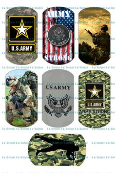 Army Military Digital Design Dogtag Images by FunGraphics4U, $1.75