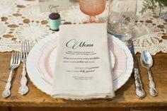 Country Elegant Wedding Table Setting