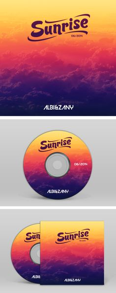 Promo CD cover for duo of DJs AlbiZany called Sunrise. It is a mix of dance music.   #GraphicDesign, #Cover, #Music, #Dance, #DJ,