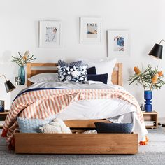 What do we love about timber beds? So many things.The unique beauty & natural features of grain and colouring, the longevity and sturdiness, the fact that it's sustainable and costs less CO2 emissions than making furniture out of any other material….just to name a few.