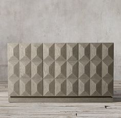 Geometric Triple-Door Sideboard