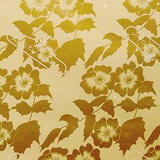 Baroque floral pattern. #textile #fabric #gold