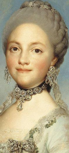 Portrait of Maria Luisa as Princess of Asturias, in the gardens of Aranjuez (ca. 1766), by Anton Raphael Mengs