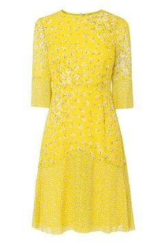 LK Bennett Yellow Dress - What To Wear To A Summer Wedding