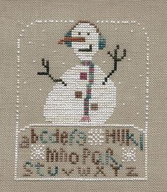 Garden Grumbles and Cross Stitch Fumbles: Happy Snow Snow Day - a Finish