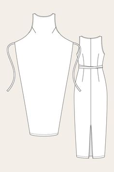 Named Clothing women's dressmaking pattern sewing pattern. The Kielo wrap dress can be worn many ways and easily altered, for woven or knit fabric: chambray, linen, ponte. Available at Ray Stitch, London. Named Clothing, Diy Clothing, Sewing Clothes, Clothing Patterns, Sewing Patterns, Dress Sewing, Wrap Dress Patterns, Apron Patterns, Sewing Coat