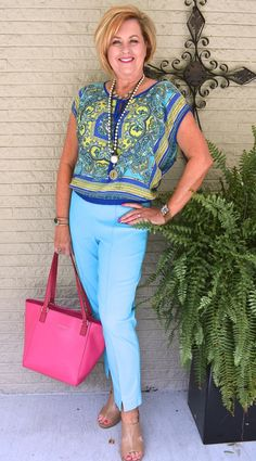 50 is not old gulf coast jam giveaway turquoise pop of color scarf top fash Over 50 Womens Fashion, 50 Fashion, Fashion Over 40, Fashion Outfits, Fashion Tips, Fashion Trends, Ladies Fashion, Emo Outfits, Fashion Websites