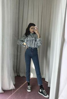 Korean Fashion – How to Dress up Korean Style – Designer Fashion Tips Korean Fashion Trends, Korea Fashion, Asian Fashion, Girl Fashion, Womens Fashion, Style Outfits, Fall Outfits, Casual Outfits, Cute Outfits