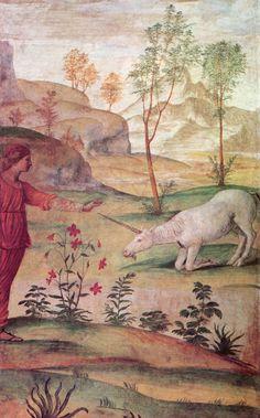 Bernardino Luini : Procris and the Unicorn, c.1500