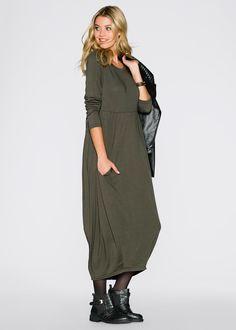 Maxi-jurk donkerolijfgroen - RAINBOW nu in de onlineshop van bonprix.nl vanaf ? 39.99 bestellen. Supertrendy maxi-jurk in losjes vallend model met ...
