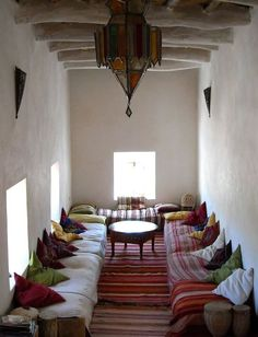 45 Awesome Bohemian Living Room Decoration Ideas To Create A Comfortable Atmosphere In Your Home Moroccan Decor Living Room, Moroccan Home Decor, Moroccan Interiors, Moroccan Design, Living Room Decor, Moroccan Style, Dining Room, Bohemian Living, African Home Decor