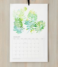 maybe make a birthday calendar, so it starts and ends each year with the person's birthday. Fine Day Press 2013 Watercolor Botanical Calendar