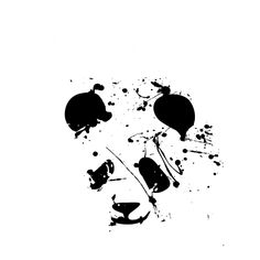 DRIPPING PANDA /動物・パンダ・アニマル・ロック・パンク・ペンキ・ストリートアート・グラフティ・可愛い・ペット・絵・女性・子供・ダンス・音楽・シンプル・イラスト・ロゴ・デザインTシャツ