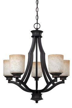 "Warren 5-Light 24"" Rubbed Antique Bronze Chandelier at Menards"