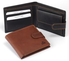 Rowallan Leather Wallet in black (brown available)