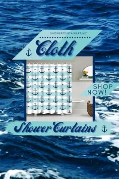 Drastically enhance your bathroom decor with a soft & stylish fabric shower curtain from Shower Curtain Art. Nautical Shower Curtains, Shower Curtain Art, Fabric Shower Curtains, Bathroom Shower Curtains, Bathroom Fixtures, Beach Cottage Style, Beach House Decor, Modern Bathroom Design, Bathroom Interior Design