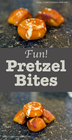 Homemade Soft Pretzels in little bites: fun to eat and fun to make! Try some for your next party!