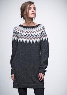 Knitting Machine Patterns, Sweater Knitting Patterns, Knitting Stitches, Norwegian Knitting, Icelandic Sweaters, Knit Basket, Fair Isle Knitting, Knit Dress, Knitwear