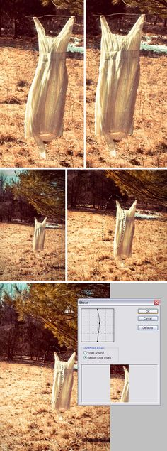 Photoshop Hack: Make anything look thinner by using the Shear filter.