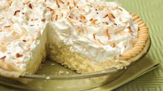 Coconut Cream Pie - Old-Fashioned Pies & Cobblers - Southern Living - When it comes to pie recipes, this classic coconut pie recipe takes the blue ribbon. A refrigerated pie crust makes it easy, and the whipped cream and toasted coconut make it stunning.   	Recipe: Coconut Cream Pie
