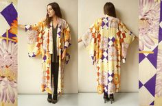 1920's/ 1930's Antique Japanese Rayon Kimono Robe by 5678Vintage