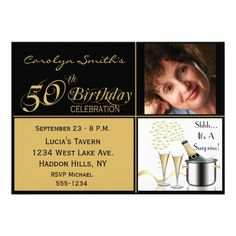 Awesome 50th Surprise Birthday Party Invitations  Download this invitation for FREE at https://www.drevio.com/50th-surprise-birthday-party-invitations/