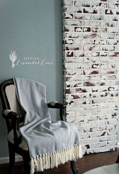 diy faux brick exposed chimney, diy, how to, wall decor