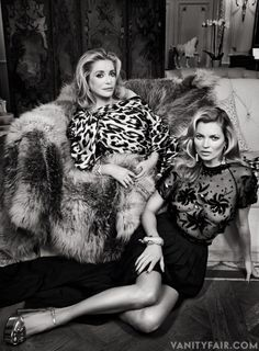 Even for Paris, This Was Impressive: Kate Moss and Catherine Deneuve in Their First Portrait Together
