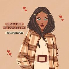 Laura Dumitriu 🇷🇴 sur Instagram : Day 90 of 366 Here it is guys, per your request, another #dtiys ❤️ RULES: 🔸Redraw this in your own style, but keep it recognizable (you can… Instagram Fashion, Your Style, Draw, Guys, Anime, Drawings, Anime Shows, Painting, To Draw