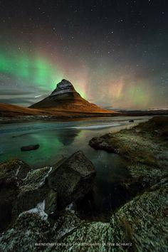 euph0r14: landscape | [ shooting star next kirkjufell ] | by...