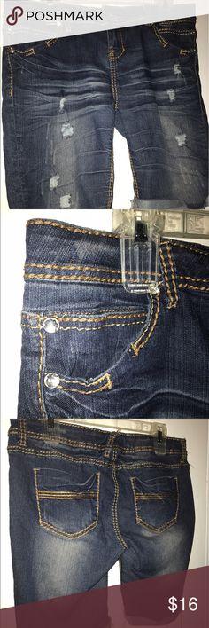 Rue 21 distressed shorts Blue denim distressed shorts.     (8) Lauren Ralph Lauren Shorts Jean Shorts