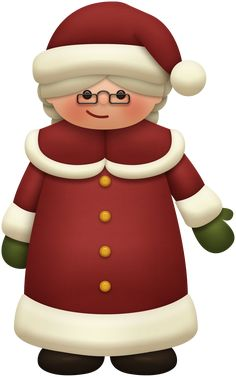 mrs claus cartoon - Google Search Christmas Clipart, Christmas Images, Christmas Cards, New Year Gifts, Christmas Gifts, Christmas Decorations, Hershey Miniatures, Mrs Claus, Nutcracker Christmas