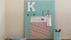 DIY back-to-school bulletin board