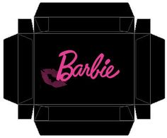 Free Printable Barbie Shoe Box Top 1:6 scale