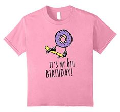 de1853206 unisex-child It's My Birthday Donut on a Skateboard Funny T-Shirt 8 Baby  Blue
