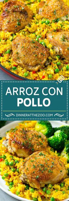 Arroz con Pollo Recipe | Chicken and Rice Recipe | Spanish Chicken #chicken #rice #onepot #dinner #dinneratthezoo #glutenfree