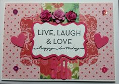 Birthday Card - made using Echo Park Jack and Jill PP, On Your Birthday Stampin' Up! Stamp Set and American Craft Thickers.
