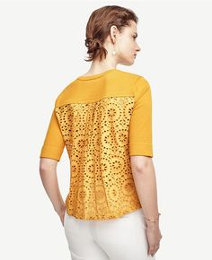 Thumbnail Image of Color Swatch 3906 Image of Eyelet Back Top